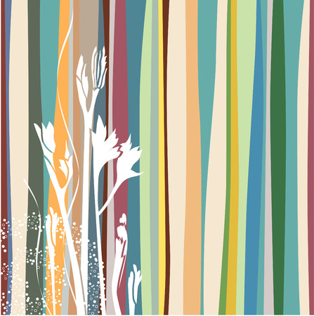 A stylized plant on striped background Vector