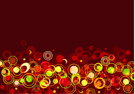 Abstract circled brown background Vector
