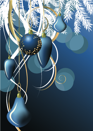 Christmas ball in dark blue background Stock Vector - 5989490