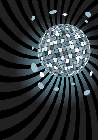 Disco ball at midnight Vector