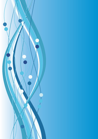 Abstract blue background with stripes Vector