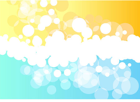 Bright yellow and light blue vector background  Vector