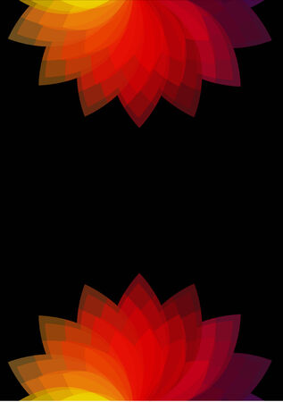 wallpaperrn: Stylized red flowers on black background