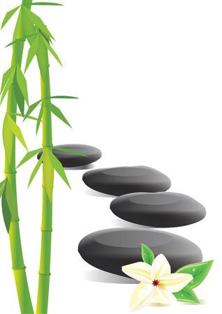 relaxar: Spa stones, bamboo and frangipani