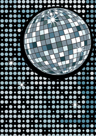 Disco gold party ball Vector