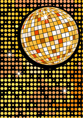 yellowrn: Disco gold party ball