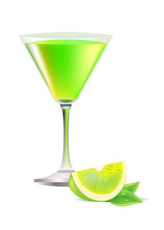 margarita cóctel: Copa de cóctel exótico  Vectores