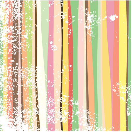 Multi-colored abstract stripes