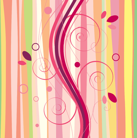 Multi-colored abstract stripes and waves