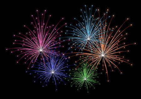 yearrn:  colorful firework  Illustration