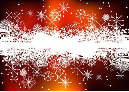 Christmas dark red background with snowflakes Vector
