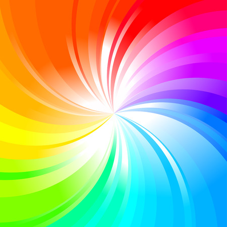 rainbow circle: Multicolored abstract rainbow background  Illustration