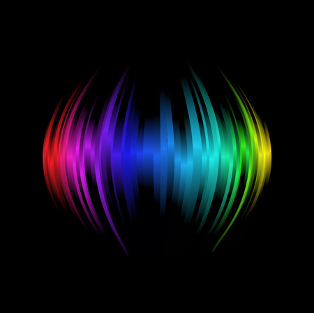 Abstract design element  on black background Vector