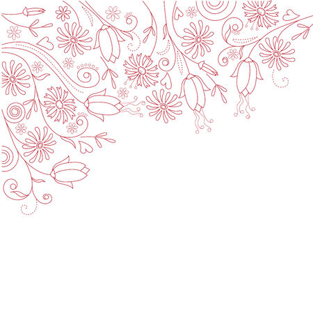 Floral white  background  Stock Vector - 7710499