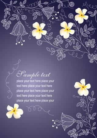 Floral blau Hintergrund mit Blumen