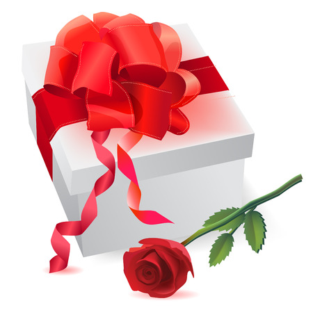 gift and rose  Vector