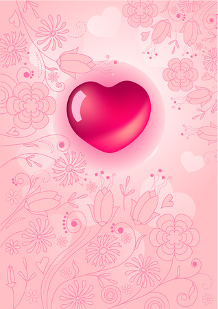 rnart: Pink background with heart