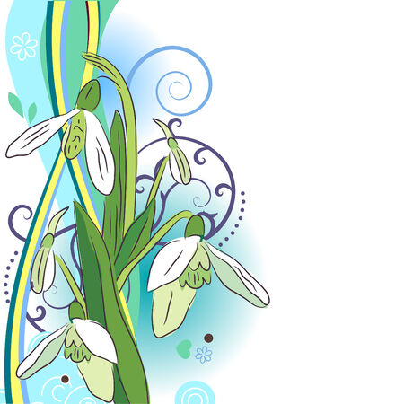 snowdrop: Floral design element