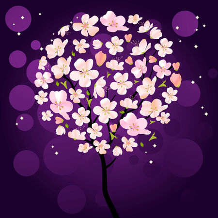 flor de sakura: �rbol de florecimiento cerezo