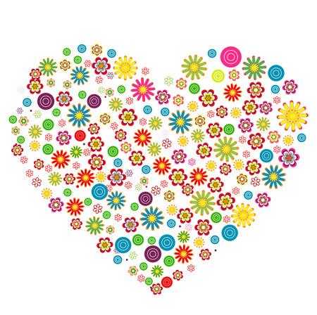 petites fleurs: C?ur floral, faite de petites fleurs