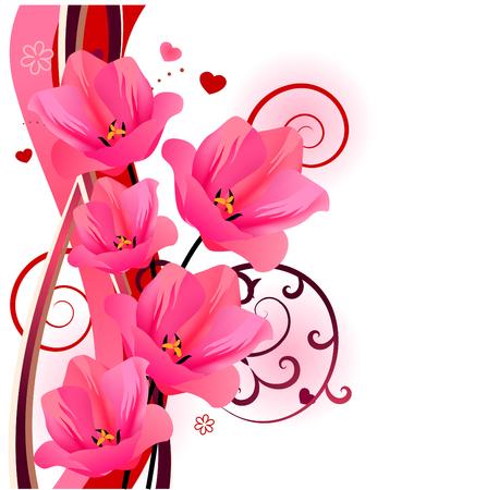 red tulip: Tulip floral design element Illustration