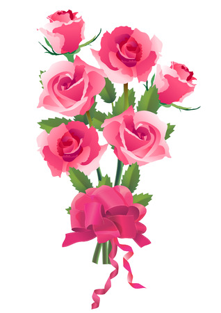 bunch of red roses Vector