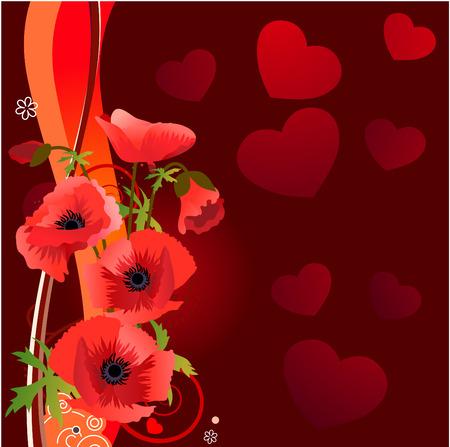 Bunch of poppies  Stock Vector - 7710620