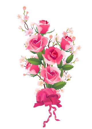 dates fruit: Mont�n de rosas y flores de manzana