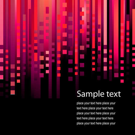 Abstract red background with stripes Vector