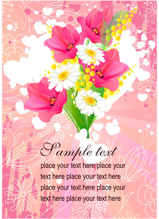 Floral greeting card Stock Vector - 8085742