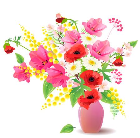 Flower bunch in vase  Stock Vector - 7931468