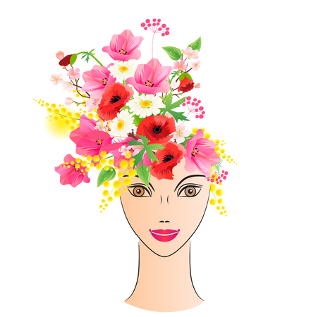 mimosa: Floral woman