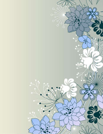 Stylish floral grey background Vector
