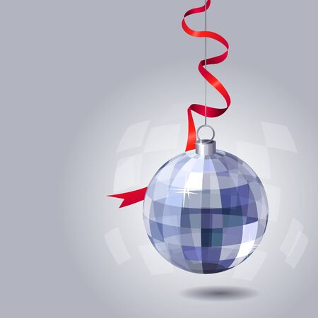 Background with hanging ball  Vector