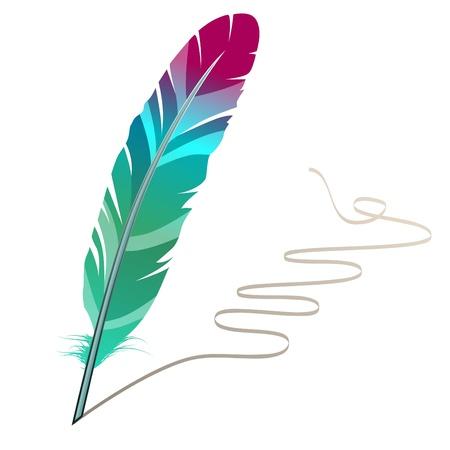 pluma: Plumas de varios colores