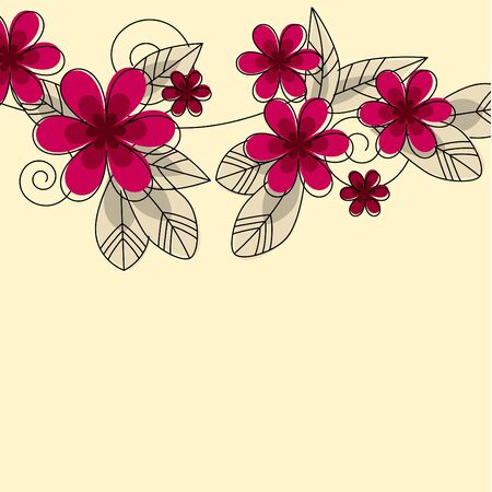 Stylized abstract contour flowers Vector