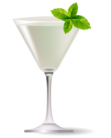 booze: Cocktail with mint leaves