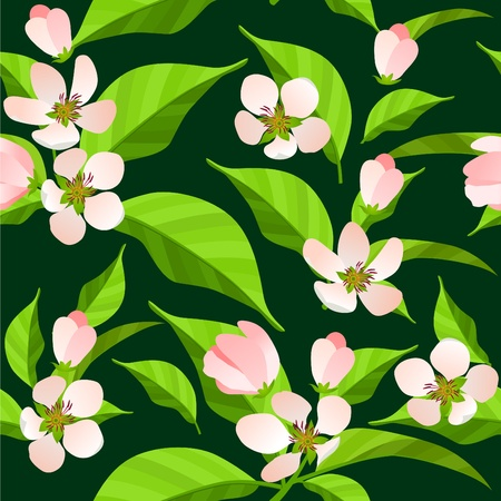 Seamless pattern with blossoming branches Stock Vector - 8380175
