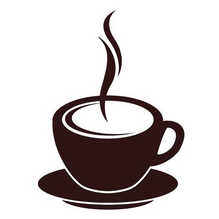Silueta de la taza de caf�