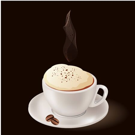 cappuccino: Cup of hot coffee  Illustration