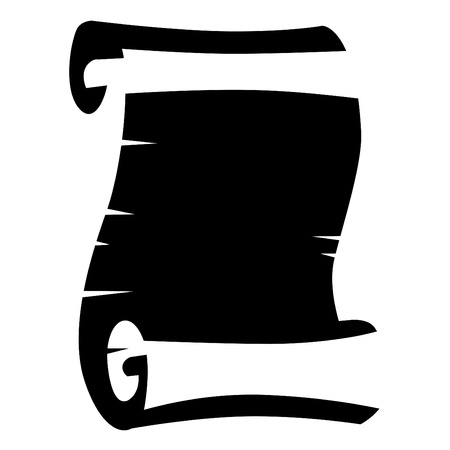 Black-and-white scroll Vector