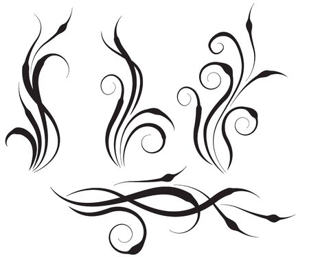 Floral swirl design elements Stock Vector - 8414768