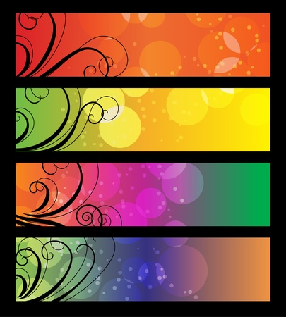 Banners, headers with abstract lights.  Stock Vector - 8454337