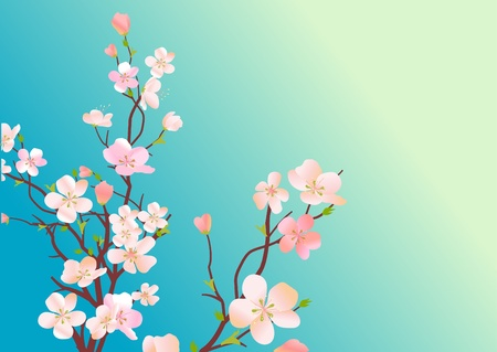 Blossoming tree Stock Vector - 8454341