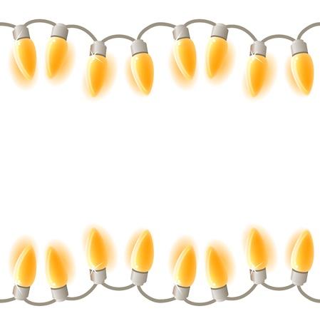 christmas bulbs: Seamless festive garland  Illustration