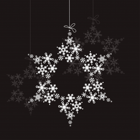 White snowflake made of small ones Stock Vector - 8460777