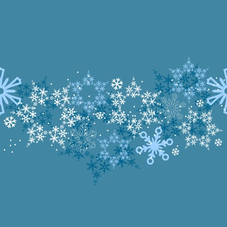 Seamless border with snowflakes Vector