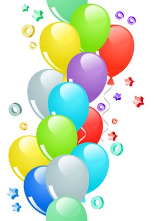 Seamless border with balloons Vector