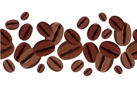 coffee crop: Two seamless cupcake borders Illustration