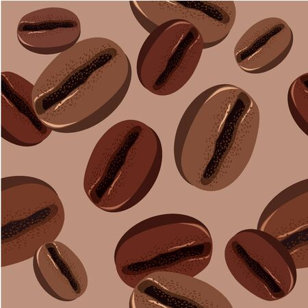 coffee beans: Seamless pattern with coffee beans